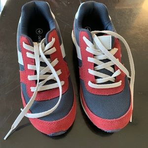 New Cat and Jack boys sneakers, red and blue